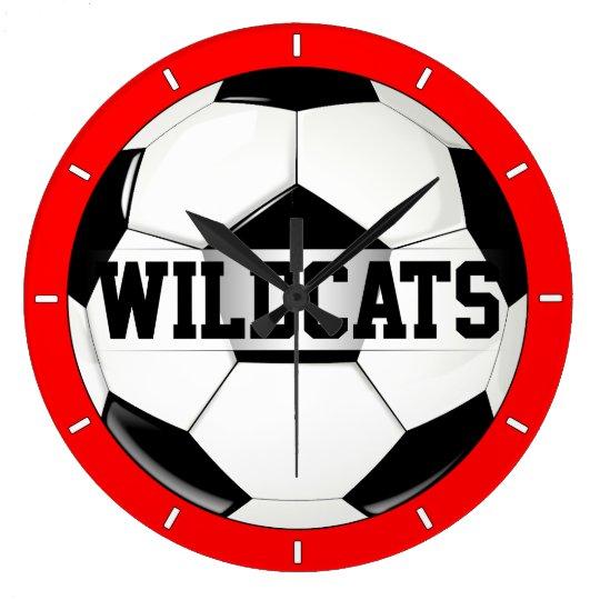 Black & White Soccer Ball Custom Team Text