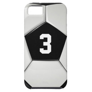 Black & White Soccer Ball Jersey Number Phone Case