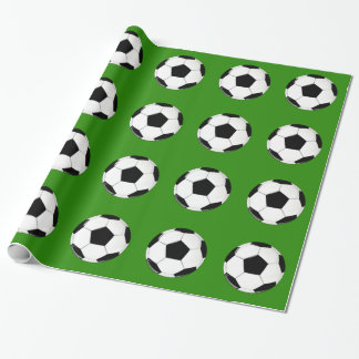 Black & White Soccer Ball Soccer Party or Banquet Wrapping Paper