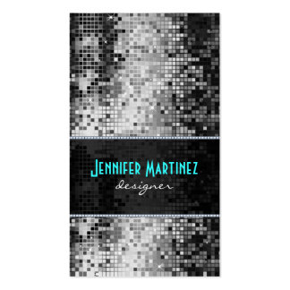 Black & White Sparkles & Glitter Pattern Pack Of Standard Business Cards