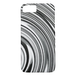Black White Spiral Abstract Background #2 iPhone 7 Case