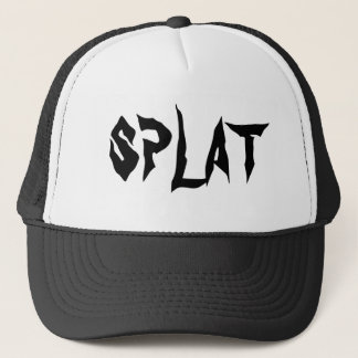 Black + White Splat Skateboarding Hat