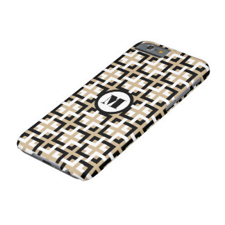 Black-White Squares and Tan iPhone 6 Case