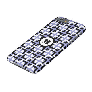 Black-White Squares and Violet iPhone 6 Case Barely There iPhone 6 Case