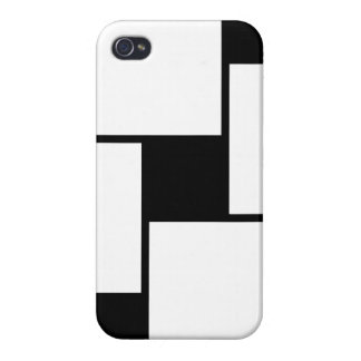 Black White Squares Case For iPhone 4
