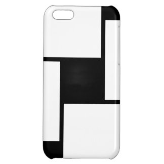 Black White Squares Cover For iPhone 5C