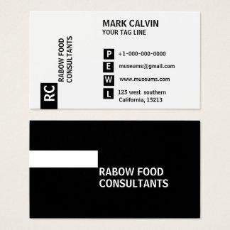 Black & White Standard Business Card