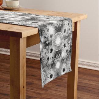 Black & White Stars Christmas Fractal Medium Table Runner