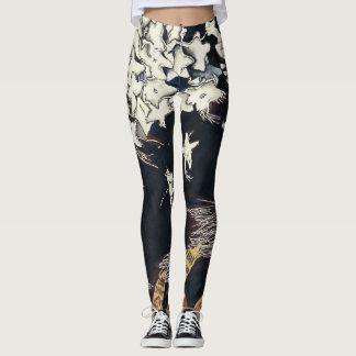 black & white, stars, original art, fun leggings