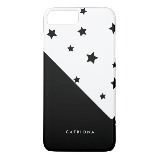 Black & White Stars Patten Abtract Personalised iPhone