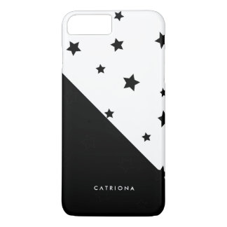 Black & White Stars Patten Abtract Personalised iPhone 8 Plus/7 Plus Case