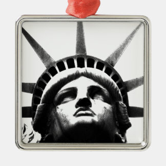 Black White Statue of Liberty Ornament