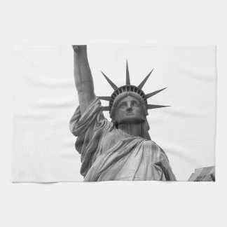 Black & White Statue of Liberty Hand Towels