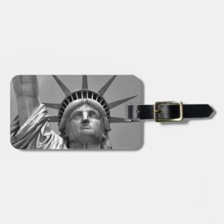 Black & White Statue of Liberty New York Luggage Tag