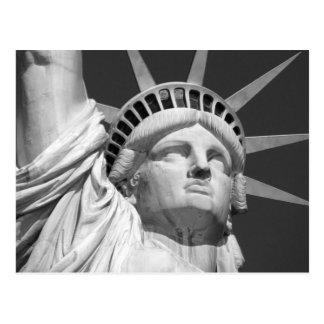 Black & White Statue of Liberty Postcard