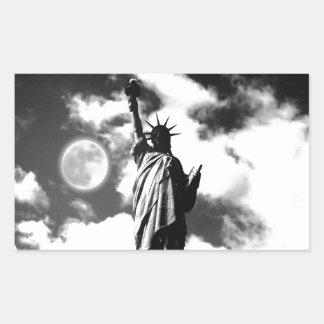 Black & White Statue of Liberty Stickers