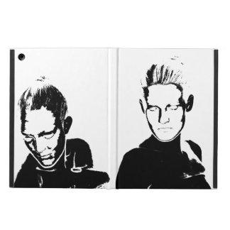 Black&White stencil, women iPad Air Cover