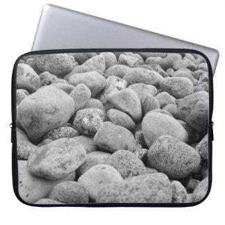 black white stones at the Baltic Sea Laptop Sleeve