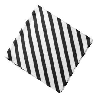 Black White stripe pattern bandana