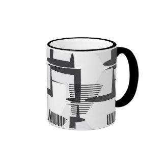 Black&White stripe Ringer Mug