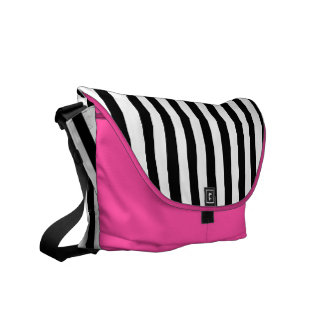 Black & White striped bag Courier Bags