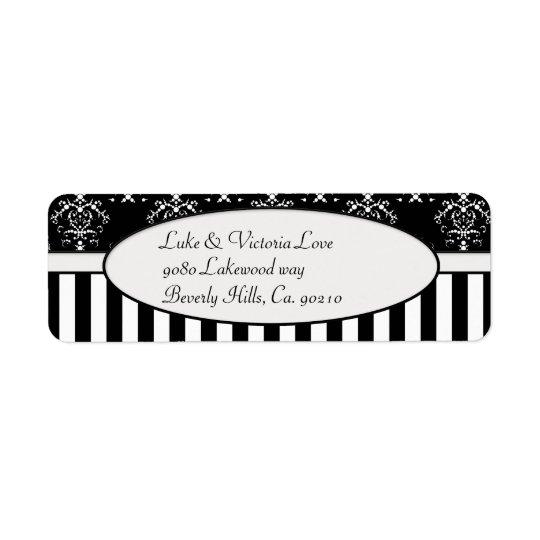 Black & White Striped Baroque