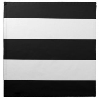 Black White Striped - Cloth Napkins