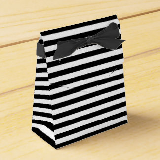 Black & White Striped Favor box
