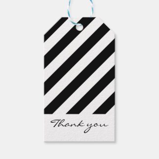 Black & white striped gift tags