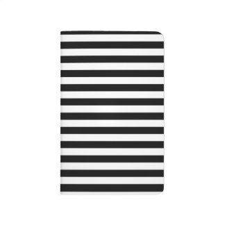 Black & White Striped Journal / Notebook