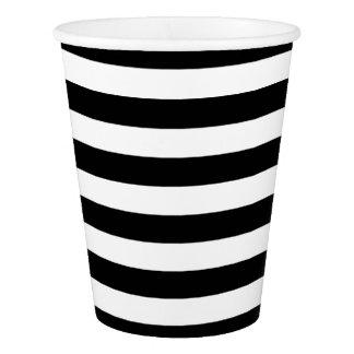 Black & White Striped Paper Cup