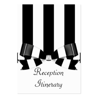 Black & White Striped Wedding Classic Pack Of Chubby Business Cards