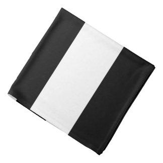 Black White Stripes Bandannas