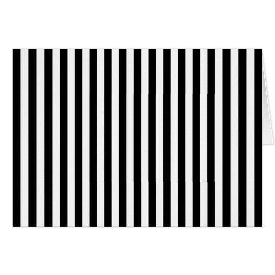 Black White Stripes Blank Note Card