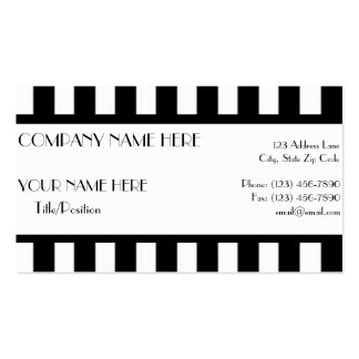 Black White Stripes Business Card Template