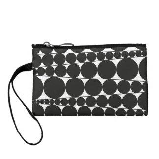 Black & White Stripes & Dots Coin Purse