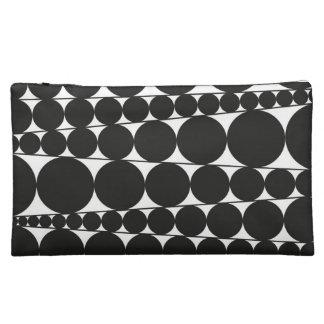 Black & White Stripes & Dots Cosmetic Bag