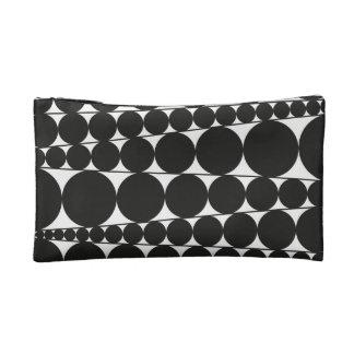 Black & White Stripes & Dots Makeup Bags