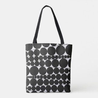 Black & White Stripes & Dots Tote Bag