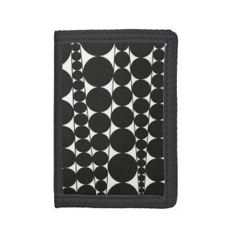 Black & White Stripes & Dots Tri-fold Wallet