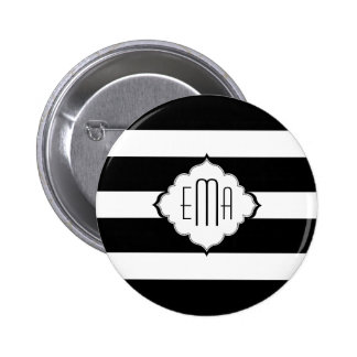Black & White Stripes Geometric Pattern 2 Buttons