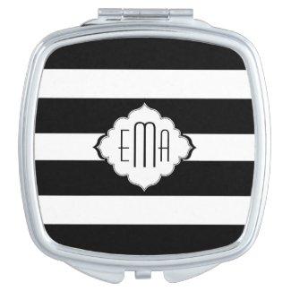 Black & White Stripes Geometric Pattern 2