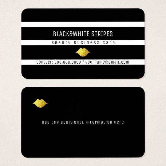 black white stripes & lips modern beauty business