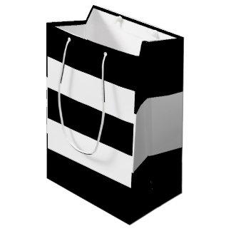 Black White Stripes Medium Gift Bag