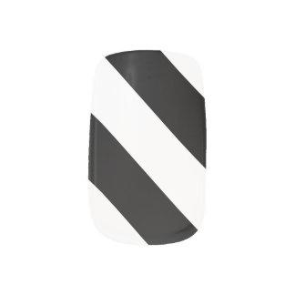 Black White Stripes Minx Nail Art