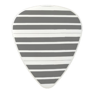 Black & White Stripes Polycarbonate Guitar Pick