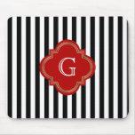 Black White Stripes, Red Label Monogram