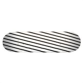 Black & White Stripes Skate Boards