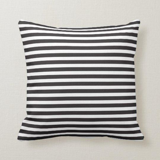 Black & White Stripes Thin Cushion