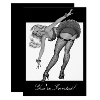Black & White Style Pin-Up Girl 19 Card